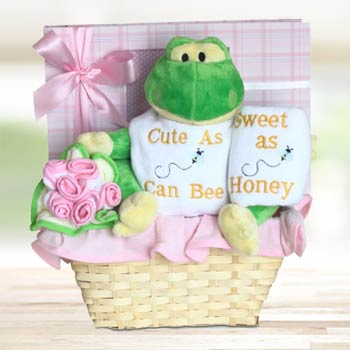 Baby Girl Keepsake Basket