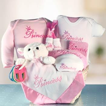 Princess Baby Girl Gift Basket