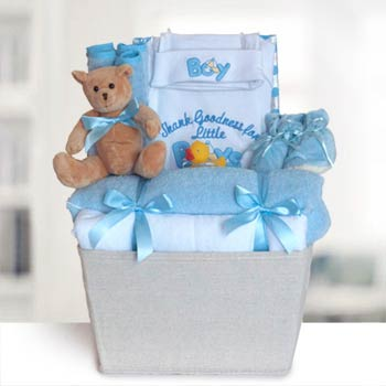 Baby Boy Layette Basket