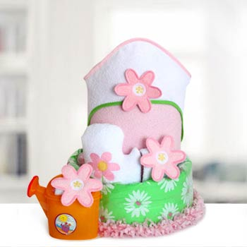 Baby Girl Flower Diaper Cake