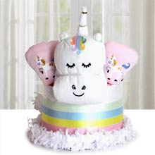 Unicorn Diaper Cake for Twins