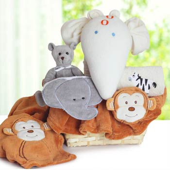 Animal Friends Baby Gift Basket