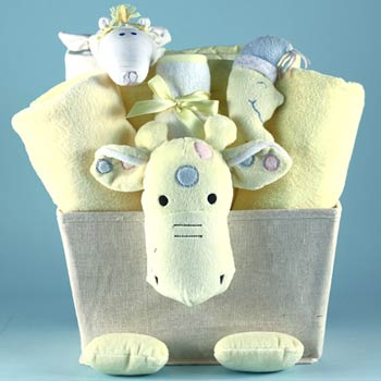 Baby Shower Giraffe Basket
