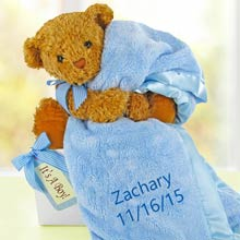 Personalized Baby Boy Bear Box