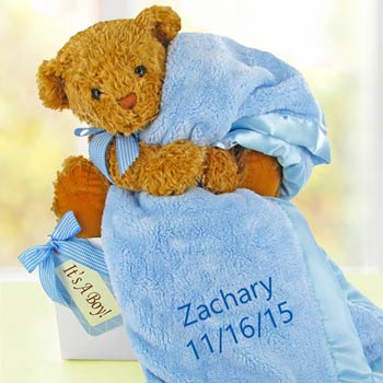 Personalized Baby Boy Bear Box