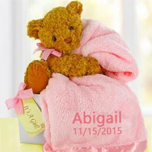 Personalized Baby Girl Bear Box