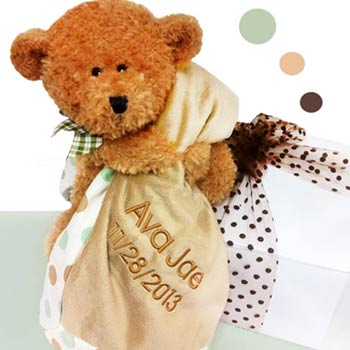 Personalized Baby Brown Bear Box