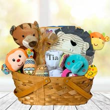 Personalized Safari Basket for Baby