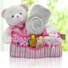 Baby Girl Diaper Caddy