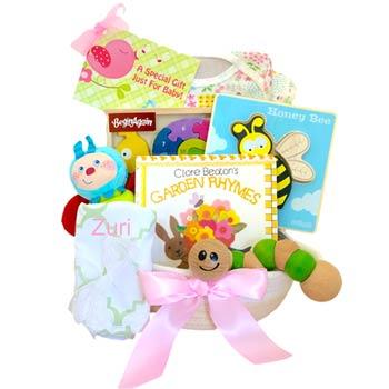Baby Girl Garden Gift Basket