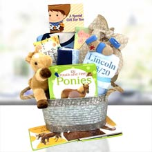 Cowboy Basket for Baby