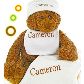 Personalized Baby Teddy Bear Gift Box
