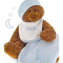 Personalized Baby Boy Bear Gift Box