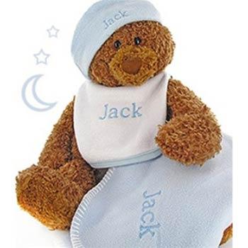 Personalized Baby Boy Bear Gift Box