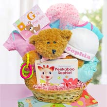 Newborn Girl Personalized Basket
