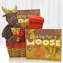Friendly Moose Gift Basket