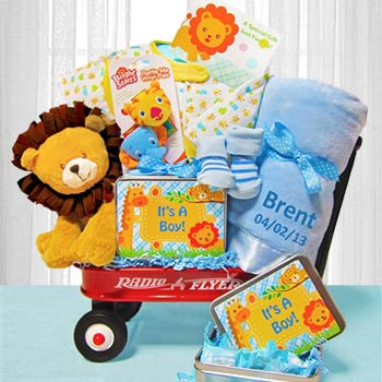 Deluxe Welcome Wagon for Baby Boy