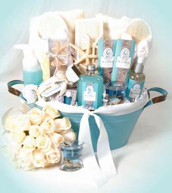 Beach Wedding Gift Basket : Spa Gift Baskets - Beach Wedding Spa Basket