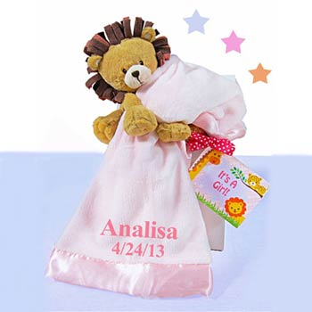 Personalized Girl Lion Gift Box