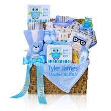 Deluxe Personalized Baby Boy Gift Trunk