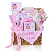 Deluxe Personalized Baby Girl Gift Trunk