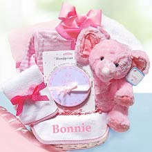 Personalized Minky Dots Baby Basket