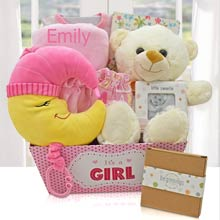 Lullaby Baby Girl Basket