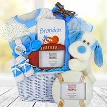Baby Boy Sports Gift Basket