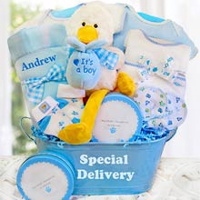 Baby Boy Special Delivery Basket