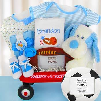 Baby Boy Sports Radio Flyer Wagon