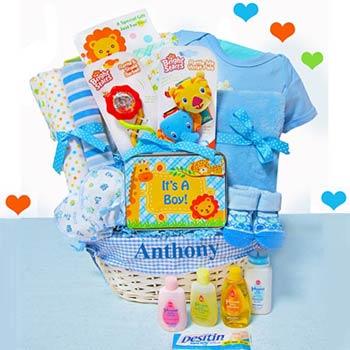 Baby Boy Jungle Gift Basket