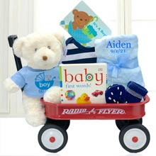 Baby Boys First Teddy Bear Basket