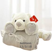 Personalized Polar Bear Gift Blanket