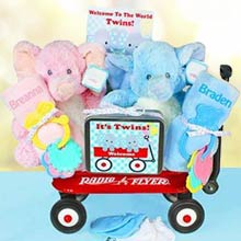Twins Radio Flyer Gift Basket
