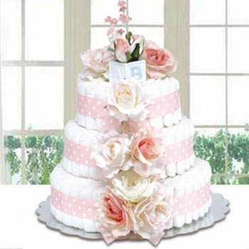Bloomers Baby Classic Pink Diaper Cake