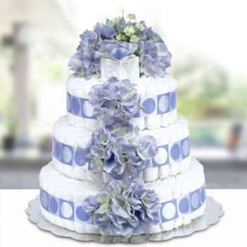 Bloomers Baby Classic Blue Diaper Cake