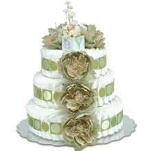 Bloomers Baby Classic Green Diaper Cake