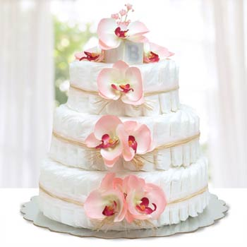 Bloomers Baby Hawaiian Pink Diaper Cake