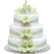 Bloomers Baby Hawaiian Mint Green Diaper Cake