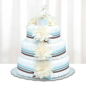 Bloomers Baby Modern Boy Diaper Cake