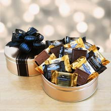 Chocolate Squares Holiday Gift Tin