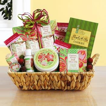 Passion Flower Spa Basket