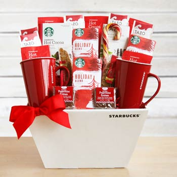 Starbucks® Christmas Basket