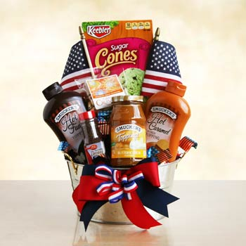 Patriotic Summer Gift Basket