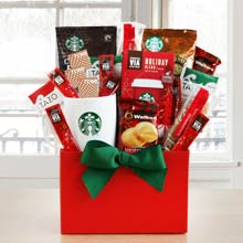 Starbucks Holiday Basket