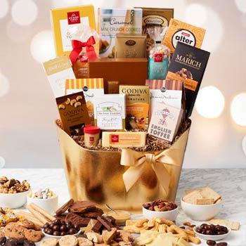 Elegant Gourmet Holiday Basket