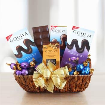 Godiva® Chocolate Holiday Gift Basket