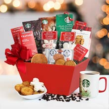 Starbucks Christmas Basket
