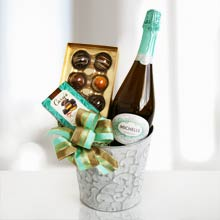 Wine and Chocolate Gift Basket