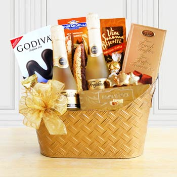 Golden Holiday Basket